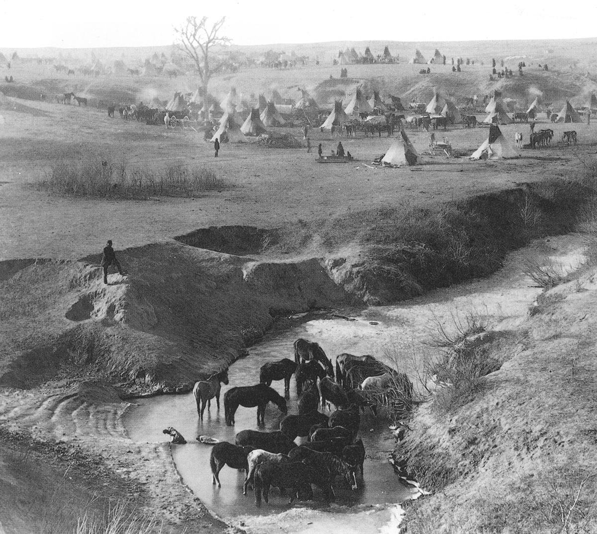 Indian Village on Plains