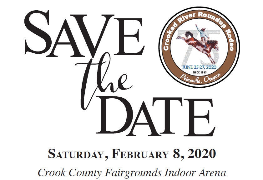 Crooked River Roundup Save the Date 75th Anniversary Gala