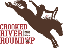 Crooked River Roundup Rodeo Logo Brown Red