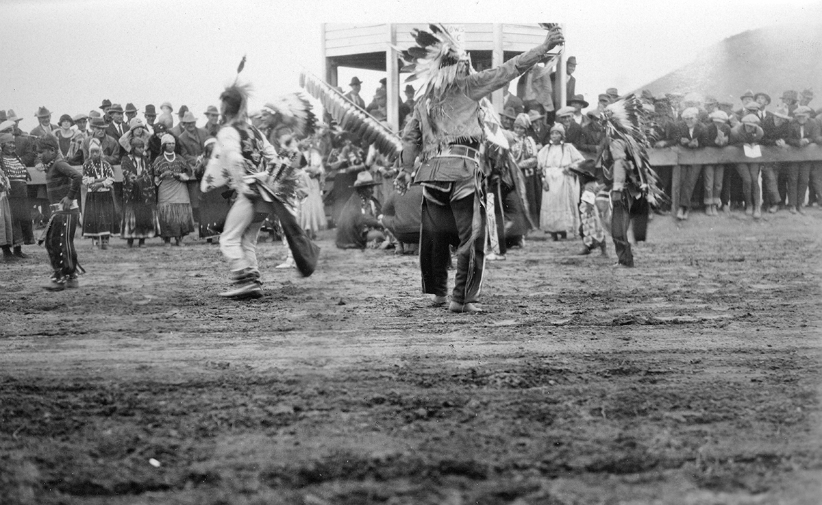 Warm Springs Indians at Interstate Fair in Prineville 1918A
