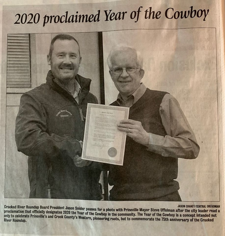 Year of the Cowboy Newspaper