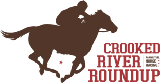 Crooked River Roundup Racing Logo Brown Red